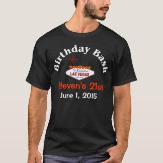 T-shirt do homem do aniversário de 21 anos de Las