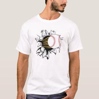 T-shirt do interruptor automático do basebol