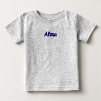 T-shirt do jérsei da multa do bebê de Alexa