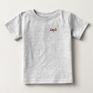 T-shirt do jérsei da multa do bebê de Layla