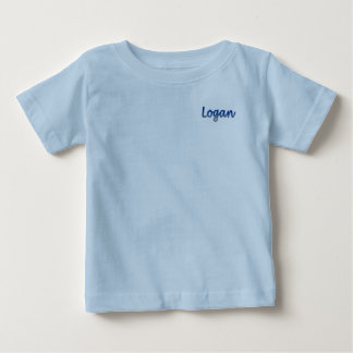T-shirt do jérsei da multa do bebê de Logan