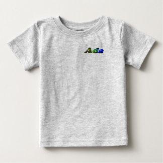 T-shirt do jérsei da multa do bebê do Ada