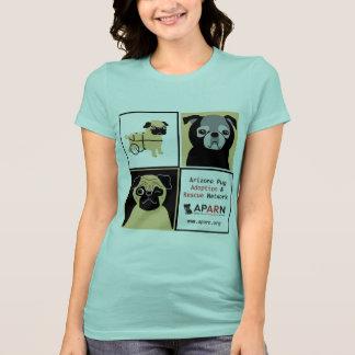 T-shirt do jérsei do Bella das mulheres dos Pugs d