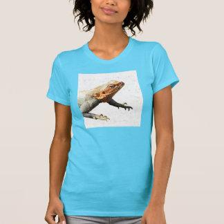 T-shirt do lagarto das mulheres
