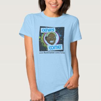 T-shirt do logotipo das mulheres de canto de Cena