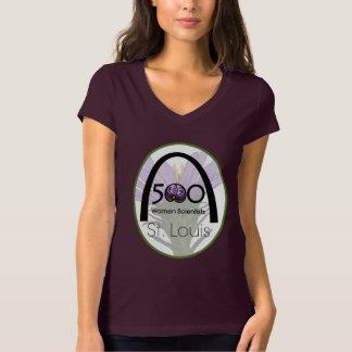 T-shirt do logotipo de St Louis de 500 cientistas