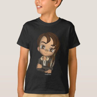 T-shirt do menino do nativo americano de Kawaii