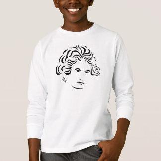 T-shirt Do miúdo longo da luva de Ludwig van Beethoven o