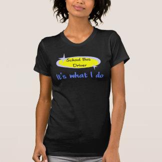 T-shirt do motorista de auto escolar