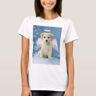 T-shirt do Natal do filhote de cachorro do anjo