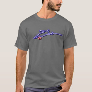 T-shirt do néon do esquiador da água do slalom