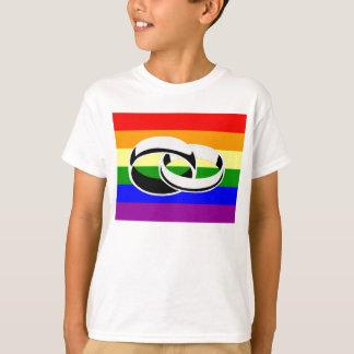 T-shirt do orgulho gay da igualdade do casamento