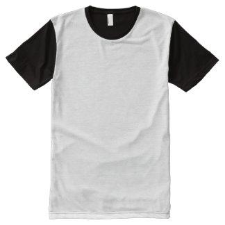 T-shirt do painel dos homens camisetas com impressão frontal completa