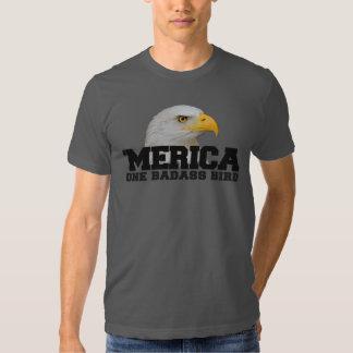'T-shirt do pássaro de MERICA um Badass Tshirts