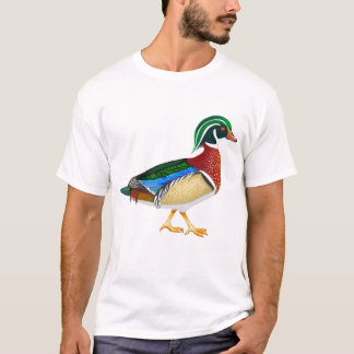 T-shirt do pato de madeira