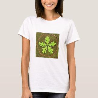 T-shirt do pentagram da folha do carvalho