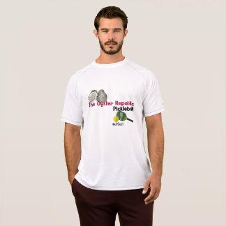 t-shirt do pickleball da república da ostra para o