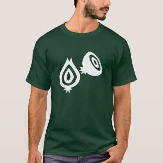 T-shirt do pictograma da cebola