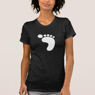 T-shirt do pictograma da pegada