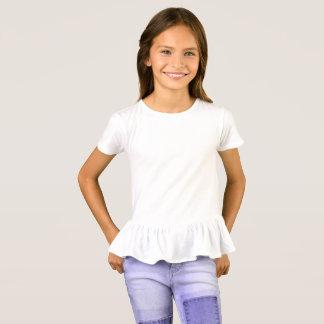 T-shirt do plissado das meninas