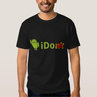 T-shirt do preto do iDo do Android