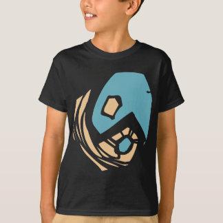 T-shirt do preto do símbolo de Yang