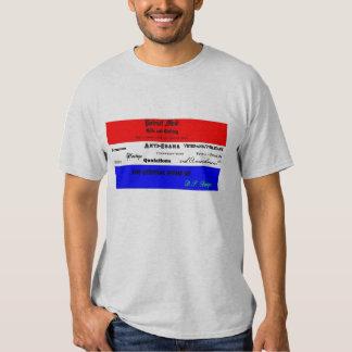 T-shirt do promocional da mente do patriota