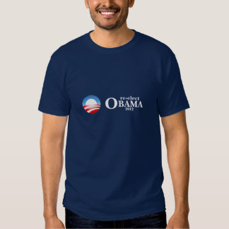 t-shirt do Re-elect Obama em 2012