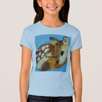 """T-shirt do """"respeito"""" da jovem corça do Mt Líbano"""