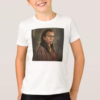 T-shirt do retrato do guerreiro do Mohican