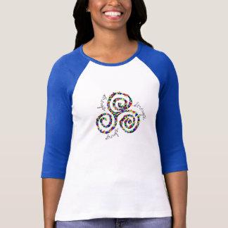 T-shirt do símbolo da força de Triskele do céltico