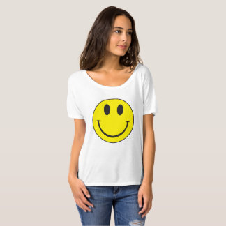 T-shirt do smiley face do vintage