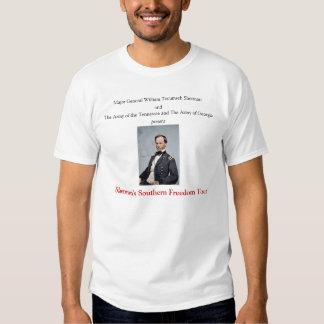 T-shirt do sul da excursão da liberdade de Sherman