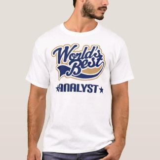 T-shirt do trabalho dos homens do analista dos