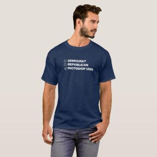T-shirt do usuário de Photoshop