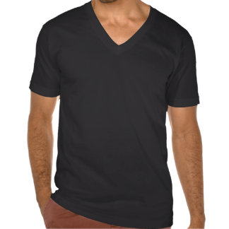 T-shirt do V-Pescoço do geek