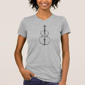 T-shirt do violoncelo das mulheres