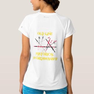 T-shirt Dobro-Seco do V-Pescoço do campeão das