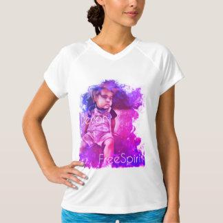 T-shirt Dobro-Seco do V-Pescoço do FreeSpirit das