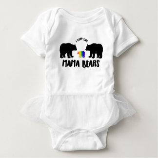 T-shirt Dois Mama Carregamento Tutu Pingamento
