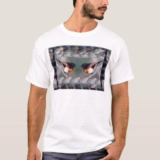 T-shirt Dois pássaros bonitos americanos pequenos - os