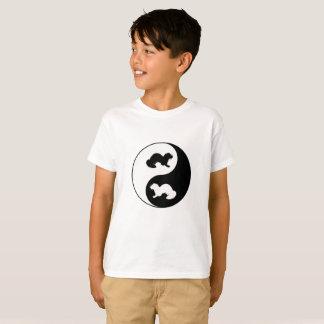 T-shirt Doninhas de Ying e de yang