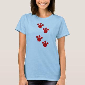T-shirt dos animais de estimação das pegadas do