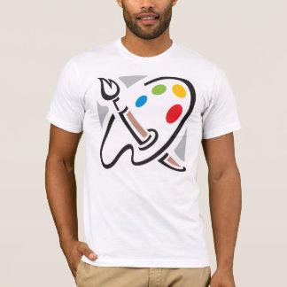 T-shirt dos homens da paleta dos pintores