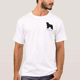 T-shirt dos homens do cão de Terra Nova, logotipo