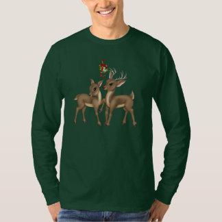 T-shirt dos homens do feriado da rena do Natal