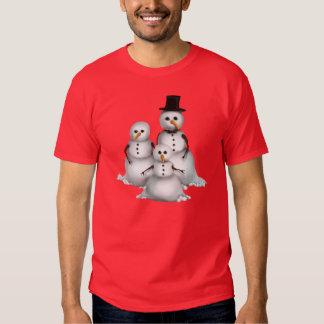 T-shirt dos homens do feriado do boneco de neve do