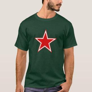 T-shirt Dos homens vermelhos da estrela da aviação
