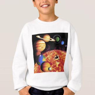 T-shirt dos planetas do sistema solar
