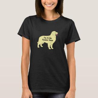 T-shirt dourado 2 dos anos do golden retriever
